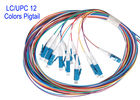 LC/UPC 12 Core Colors SM Patch Cord Fiber Patch Cables G652D G657A1 G657A2 1m 1.5m