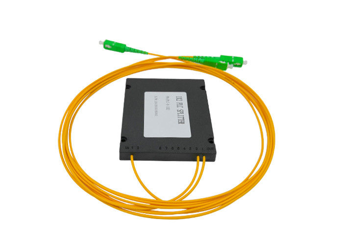 ABS FTTH Fiber Optic PLC Splitter , EPON GPON Fiber Splitter 2.0 3.0mm