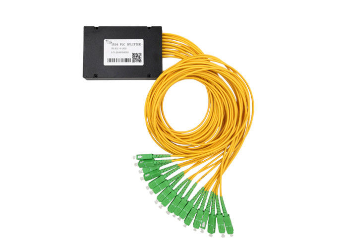 PLC Fiber Optical Splitter SC/APC 1×16 ABS BOX Splitter 3.0 G657A1 Insertion Loss13.7dB