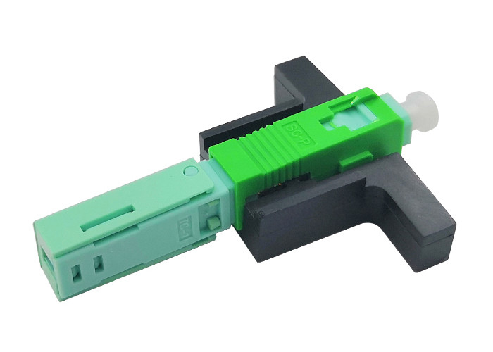 SC APC Fiber Optic Quick Connector Single Mode FTTH Tool 0.2dB Insertion Loss